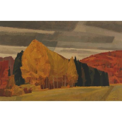 Autumn Madawaska Valley near Combermere ont by Alan Caswell Collier