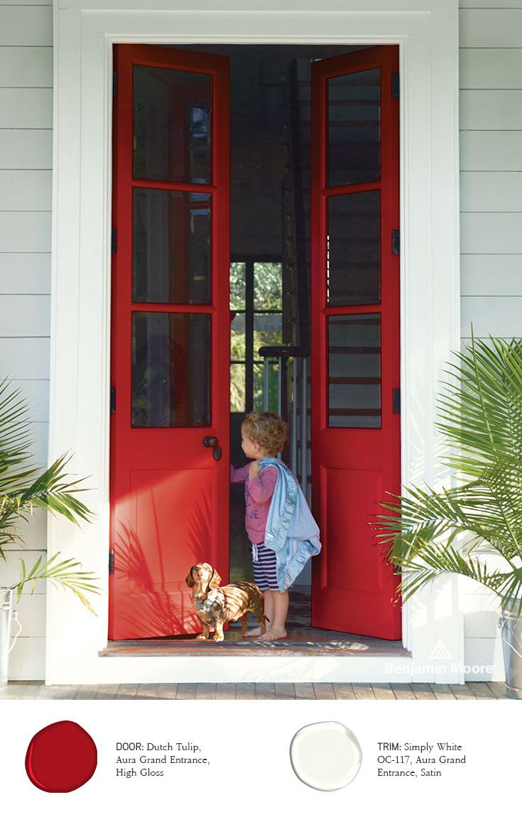 Benjamin moore front door paint colors - Benjamin Moore Paints Exterior Stains Red Doorsfront