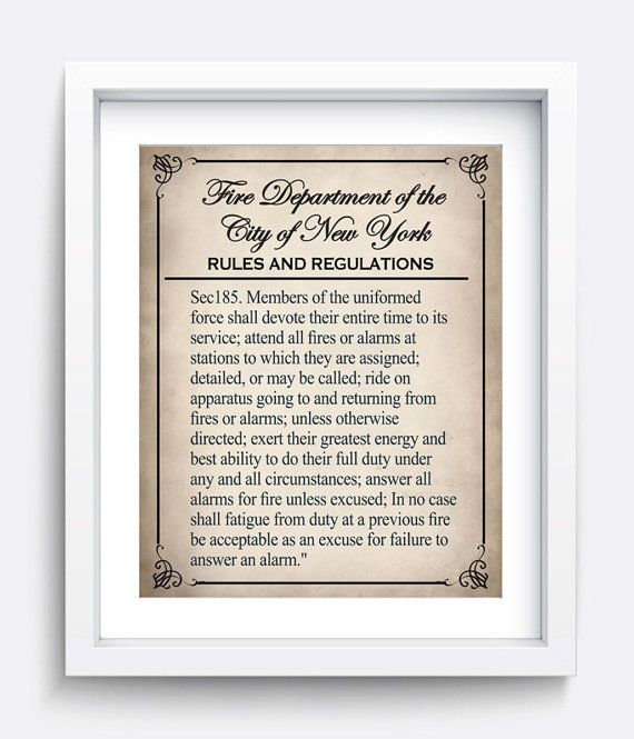 Check out this item in my Etsy shop https://www.etsy.com/ca/listing/287125065/1898-nyc-fdny-fire-regulations