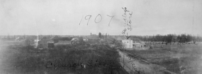 Pape Avenue, looking north to Danforth Avenue, 1907