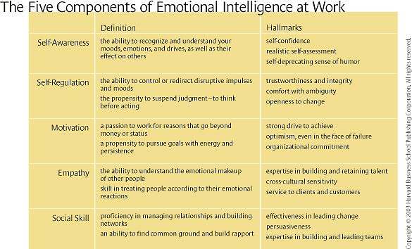 """a review of book emotional intelligence Everyone knows that high iq is no guarantee of success, happiness, or virtue, but until emotional intelligence, we could only guess why daniel goleman's brilliant report from the frontiers of psychology and neuroscience offers startling new insight into our """"two minds""""—the rational and the ."""