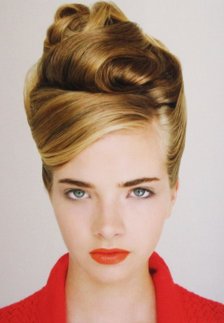 hair styles for with faces the 25 best retro updo hairstyles ideas on 7887