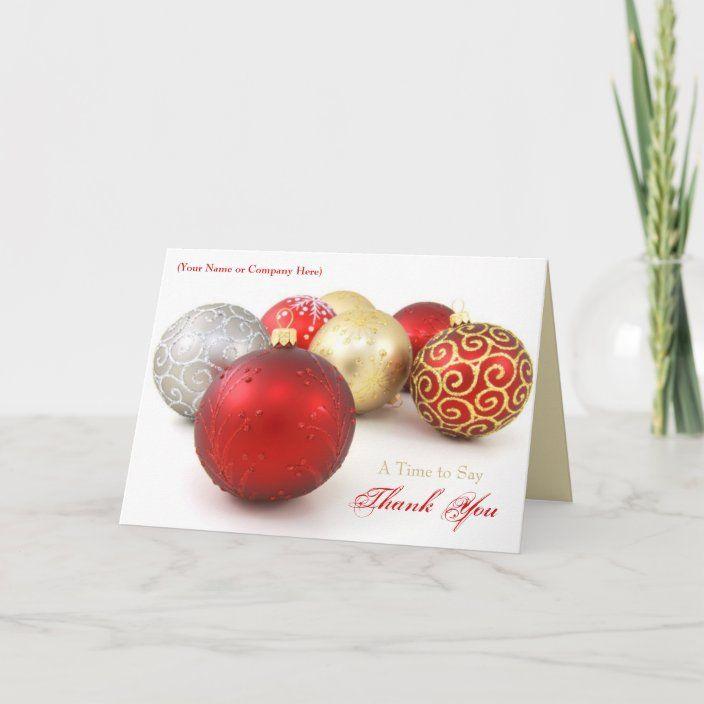 Custom Logo Business Christmas Cards Zazzle Com Business Christmas Cards Business Christmas Business Holiday Cards
