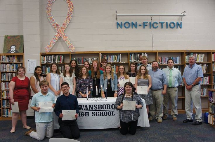 The induction ceremony from Swansboro High School