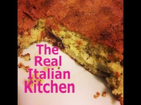 Pear and Chocolate Cake - Real Italian Kitchen - - YouTube