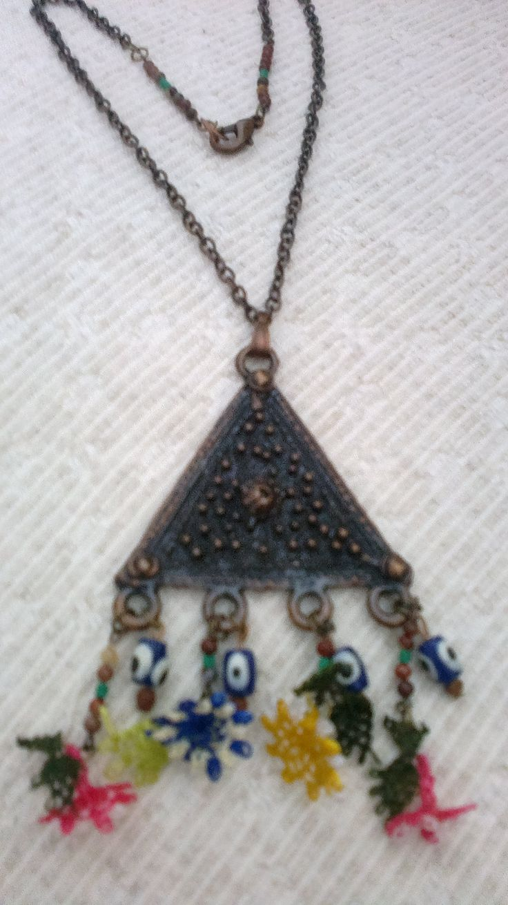 necklace, point lace (iğne oyası)