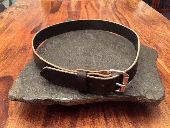 Leather Belt  Black Latigo 10oz full grain leather.