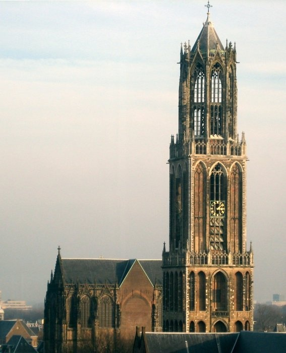 Dom Tower Church In Utrecht The Netherlands