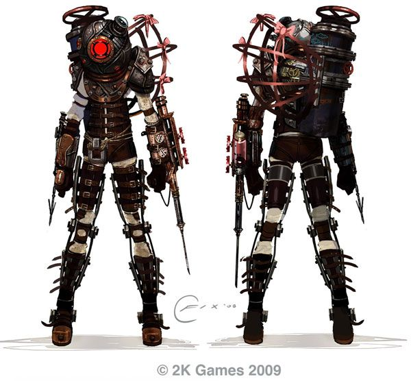 Bioshock 2: Big Daddy   Big Sister Art Surfaces