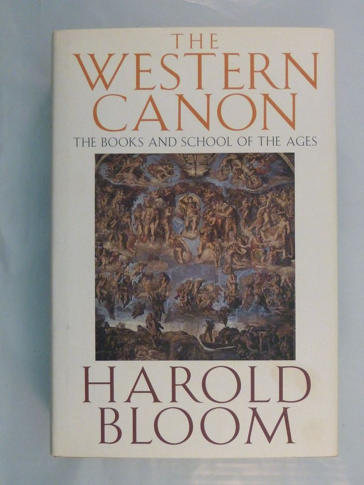 The Western Canon Books & School of the Ages H. Bloom 1st ed Hardcover Dustjkt