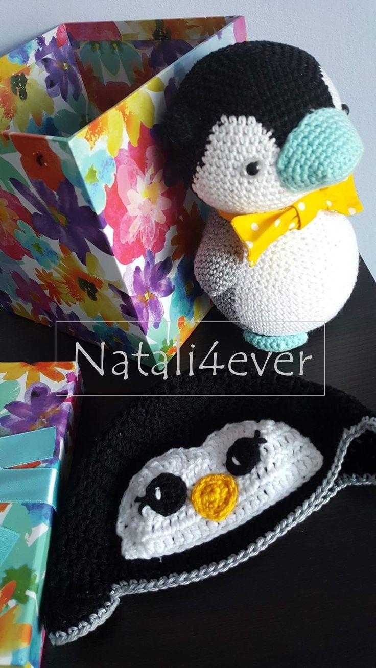 Crochet pinguin set
