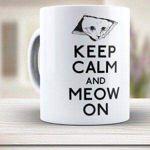 Caneca Gato Keep Calm and Meow