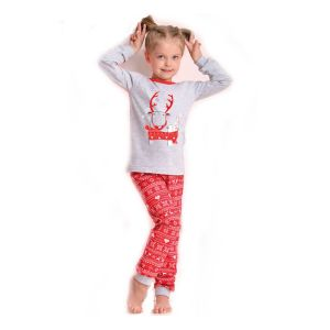 De Taro Ada 434 kinderpyjama van Corazonkids grijs met opdruk en broek. Bij de Taro kinderpyjama van CorazonKids is de broek opdruk met motieven. De top heeft een leuke opdruk. De Taro kinderpyjama van CorazonKids is van goede kwaliteit.