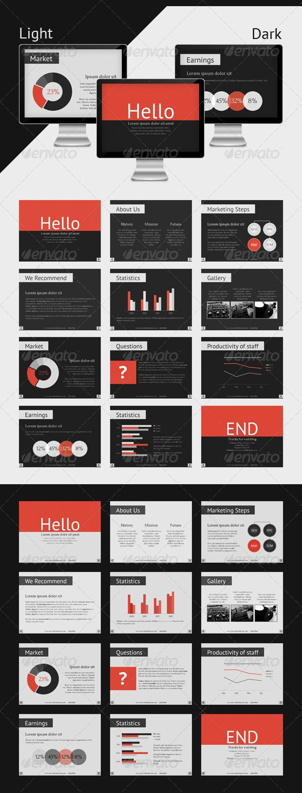 Keynote Corporate Presentation Template | Keynote theme / template