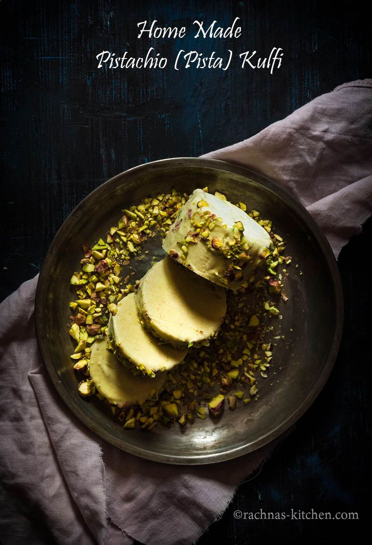 6 Ingredient Pista Kulfi Recipe, Kesar Pista Kulfi (With Step By Pics)  Pista Kulfi is a traditional frozen dessert like ice cream belongs to India. #pistakulfi #kulfi #rachnaskitchen  http://www.rachnas-kitchen.com/homemade-pistachio-rose-flavoured-kulfiindian-icecream/
