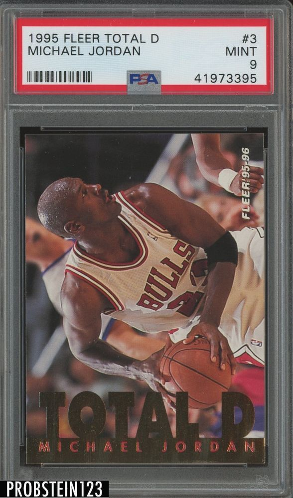 ae7ce0ff371c36 1995 Fleer Total D  3 Michael Jordan Chicago Bulls PSA 9 MINT  MichaelJordan   sportscards