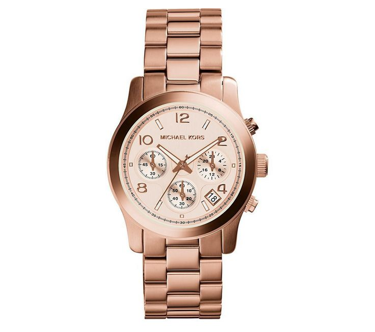 Runway Gold-Tone Chronograph Watch by Michael Kors
