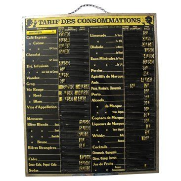 Check out this item at One Kings Lane! French Cafe Menu Board