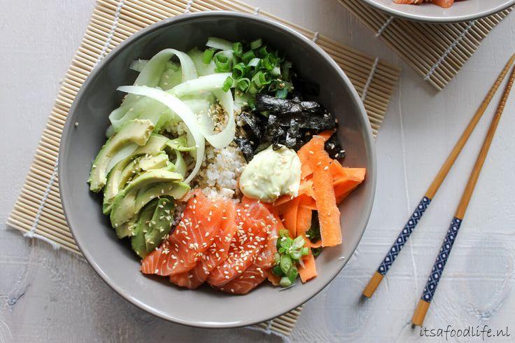 Sushi in een kom aka Sushi bowl