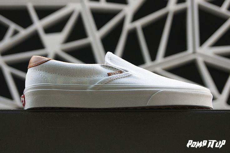 Vans Slip On 59 (True White) Sizes: 36 - 46 EUR Price: CHF 90.- #Vans #SlipOn59 #SlipOn #Sneakers #SneakersAddict #PompItUp #PompItUpShop #PompItUpCommunity #Switzerland