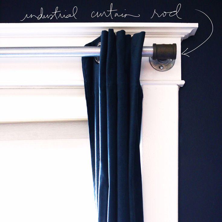 Como fazer com que as hastes de cortina industriais