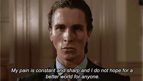 My Workout Routine, As Told By 'American Psycho' GIFs - ThoughtCatalog