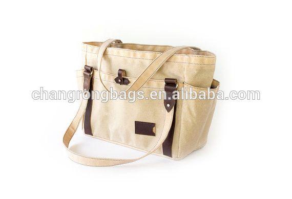 Custom Hign Quality Waxed Canvas Tote Bag