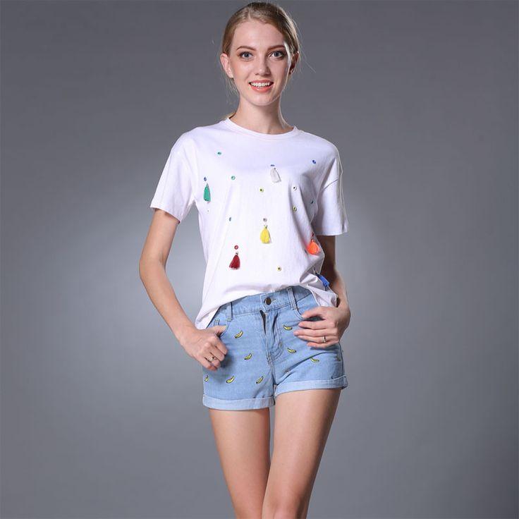 2016 Lady denim shorts women's jeans shorts hot sale ladies' denim Wash Jean Denim Shorts free shipping #Affiliate