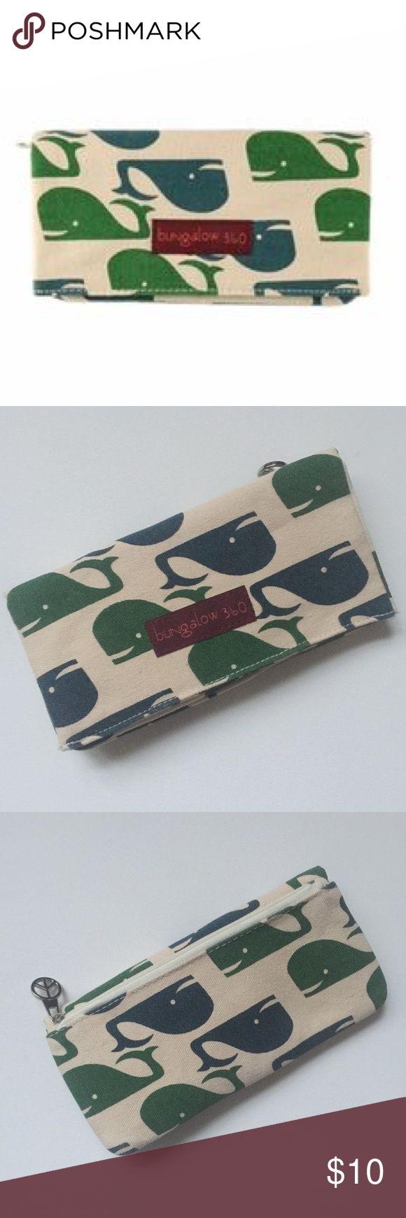 💸 Bungalow 360 Canvas Whale Wallet Bungalow 360 Canvas Whale Wallet  New with tags Bungalow 360 Bags Wallets
