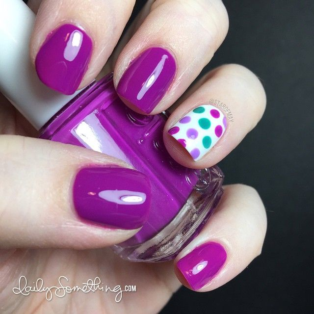 Essie Colorful Polka Dot Manicure