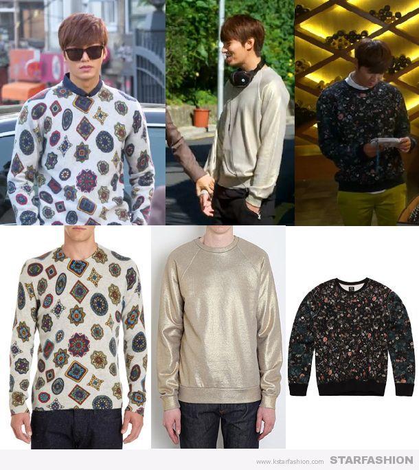 - 니트 '겐조' Gray Medallion Print Sweater - 골드 스웨터 '마크제이콥스' Gold Sweater - 플라워 티셔츠 'McQ' micro Floral McQ Logo Sweater