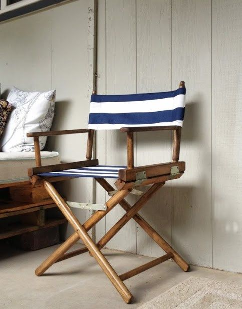 refinished directors chair by on etsy