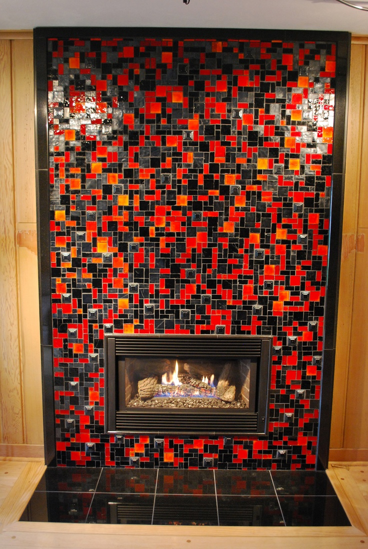 Best 20 Glass Tile Fireplace Ideas On Pinterest Beach