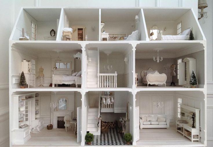 White Victorian dolls house