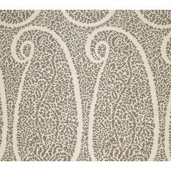 F. Schumacher | Ambala Paisley in Greige Fabric | 174640 | Shop the full line of Schumacher and 1000s of designer fabrics and wallpapers at Shop Maddie G.