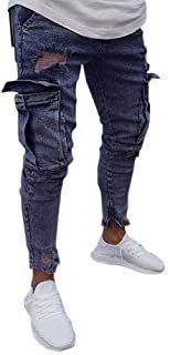 Men Pants CasualMen Sportswear Casual Elastic Fitn…