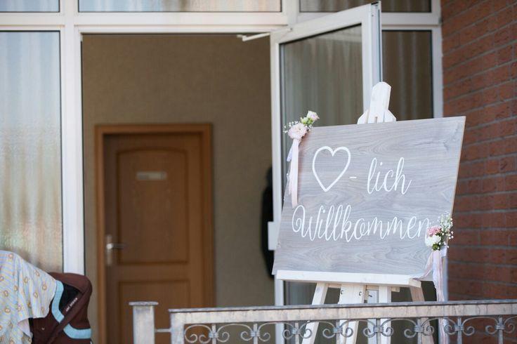 Wedding- herzlich willkommen schild
