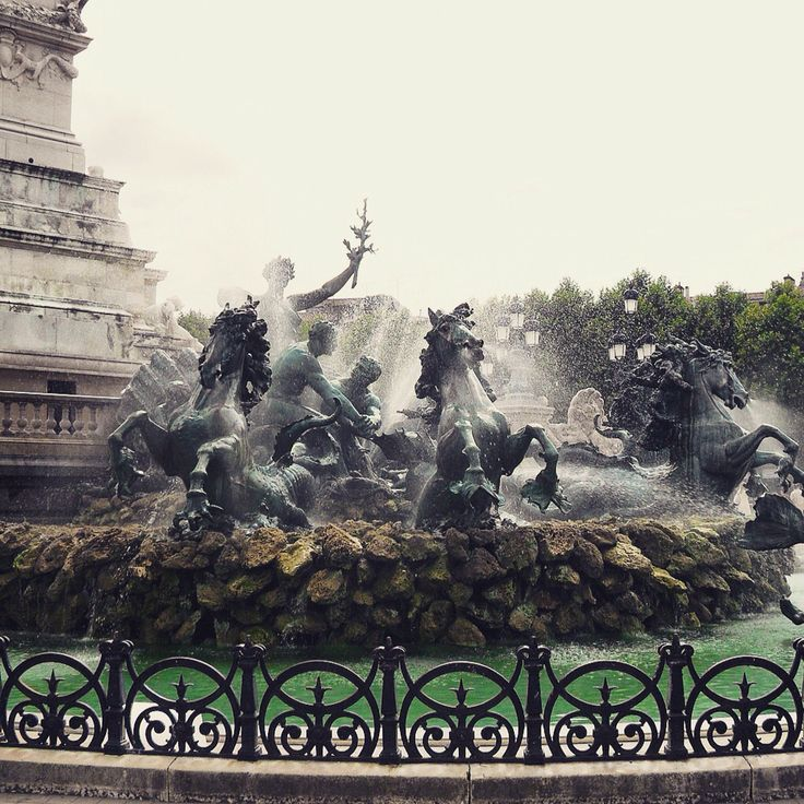 This beautiful fountain can be found at The Place de Quinconces in Bordeaux. It's absolutely stunning to look at! Www.roamtheworld.net #travel #worldtravel #france #bordeaux