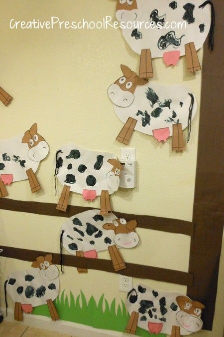 Cow Craft: would work with horses too and could be used in toy barn