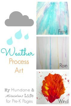3 fun process art activities for a weather theme in your preschool classroom!