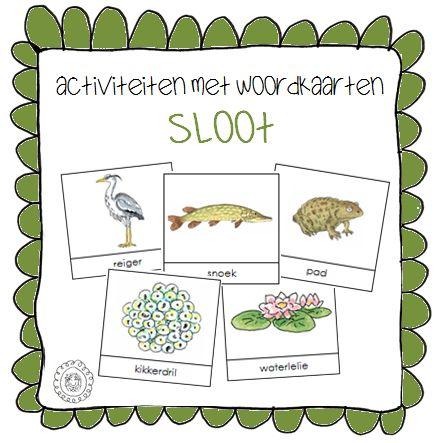 Activiteiten met woordkaarten | Thema SLOOT