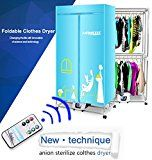 #10: Portable Clothes Dryer Electric Laundry Drying Rack 33 LB Capacity Best Energy Saving Folding Dryer Quick Dry & Efficient Mode Digital Automatic Timer with FREE Remote Control