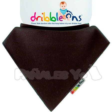 #DribbleOns Negro #babero #bebe #quitababas http://www.panalesymas.com/baberos/baberos-dribble-ons-oscuros.html