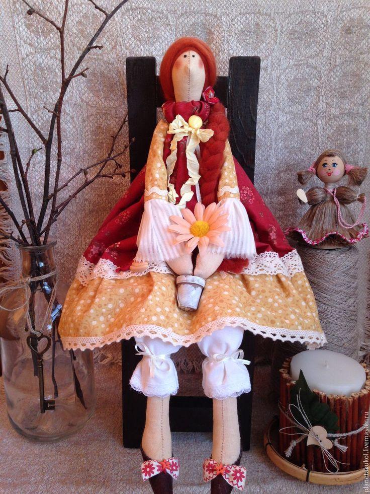 Купить Тильда кукла цветочница Энн - кукла Тильда, кукла ручной работы, кукла в подарок