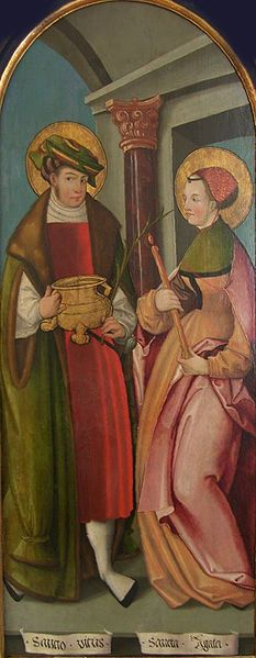 c. 1500-1520 Unknown Swiss Master, Sts Vitus and Agatha.