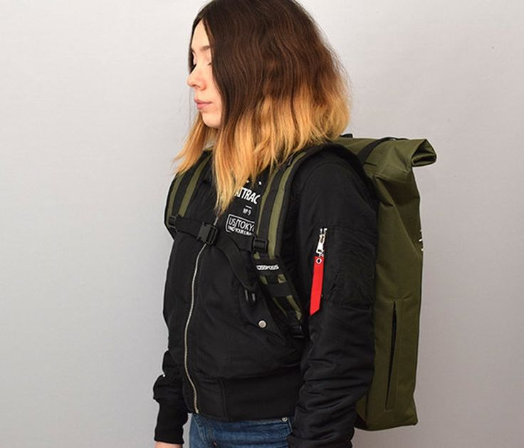 Olive green reflective roll top backpack for extra safety http://ift.tt/2hEXvFj . . . . #backpack #rolltopbackpack #kossmossbags #handrafted #rucksack #Twitter #photooftheday #bestoftheday #rolltopbackpack #backpack #look #fashion #girl
