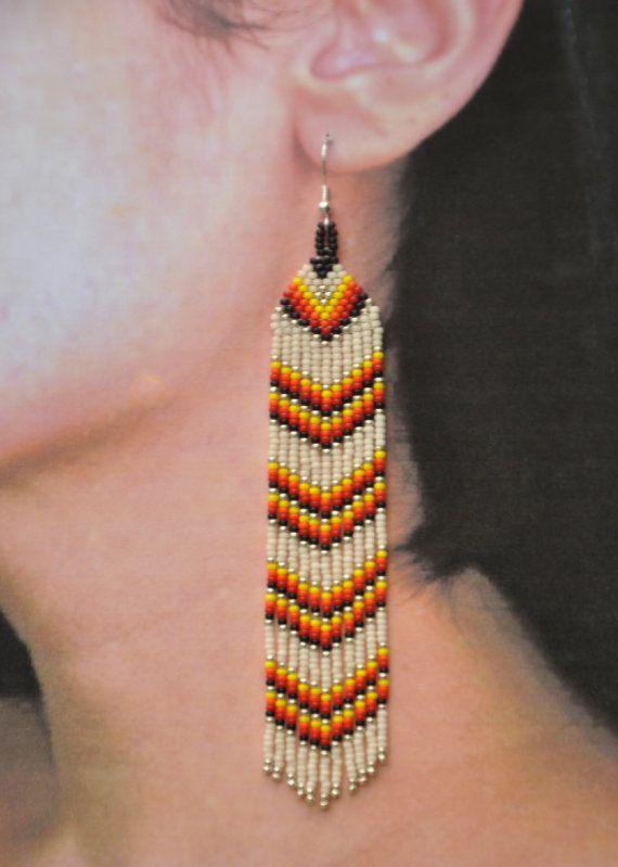Native American Inspired Seed Beaded by BlueTurtleMade on Etsy