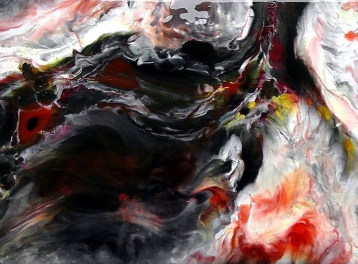 abstraction de poisson (Peinture) par CHARLES CORNIL