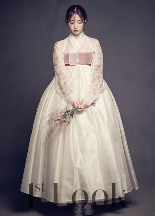 Suzy in a beautiful full hanbok