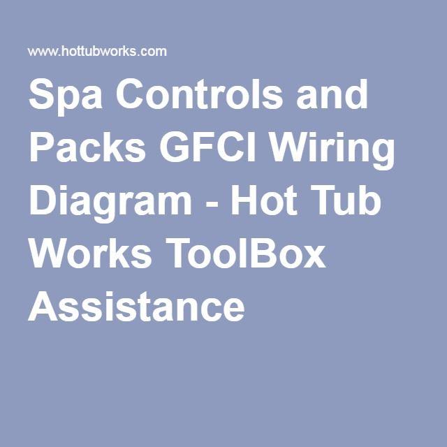 Spa Controls And Packs Gfci Wiring Diagram